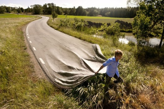 If you can't beat down your own path - then create it yourself - amazing photograph by Erik Johansson